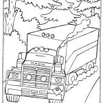 דף צביעה משאית 3