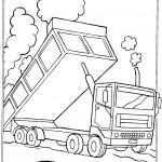 דף צביעה משאית עפר 3