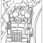 משאית נושאת גזעי עצים 1
