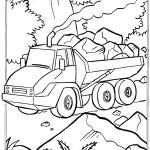 דף צביעה משאית עפר 1