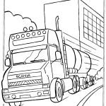 דף צביעה משאית 2
