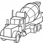 דף צביעה משאית בטון 2