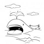 דף צביעה לוויתן 5