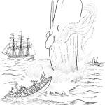 דף צביעה לוויתן 4