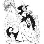 דף צביעה המכשפה הרעה 2
