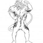 דף צביעה האריה הפחדן