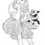 דף צביעה דורותי והכלב טוטו