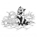 דף צביעה הכלב טוטו