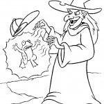 דף צביעה הקוסם מארץ עוץ 27