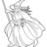 דף צביעה הקוסם מארץ עוץ 24