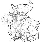 דף צביעה הקוסם מארץ עוץ 22
