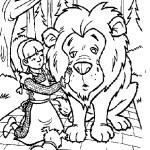 דף צביעה דורותי והאריה הפחדן