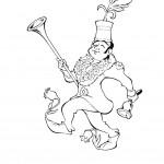 דף צביעה הקוסם מארץ עוץ 14
