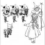 דף צביעה הקוסם מארץ עוץ 5
