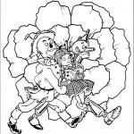 דף צביעה דורותי, הדחליל ואיש הפח