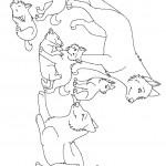 דף צביעה זאב 12