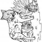 דף צביעה זאב 10