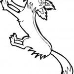 דף צביעה זאב 9