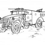 דף צביעה רכב צבאי 2