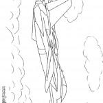 דף צביעה מטוס מסוג מיג