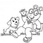 דף צביעה ארתור והכלב