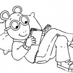 דף צביעה ארתור קורא ספר