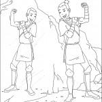 דף צביעה אווטאר 8