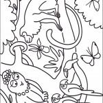 דף צביעה ברבאמא וחיות הג'ונגל