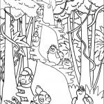 דף צביעה איזה כיף לטפס על עצים
