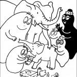 דף צביעה משפחת ברבאבא פוגשת בפילים