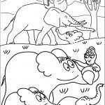 דף צביעה משפחת ברבאבא בג'ונגל