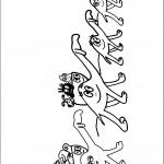דף צביעה המשפחה בשיירת גמלים