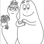 דף צביעה ברבאבא וברבאמא שלובי זרוע