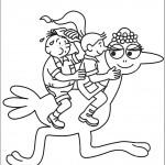 דף צביעה ברבא-חי רוכב על בת יענה