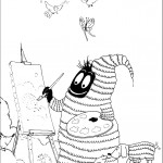 דף צביעה ברבא-נוי אוהב לצייר