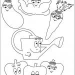 דף צביעה הירקות של משפחת ברבאבא