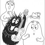 דף צביעה ברבא-נוי מנגן בגיטרה