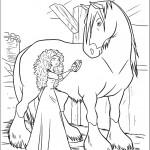 דף צביעה מרידה מברישה את הסוס אגנוס