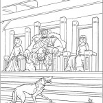 דף צביעה מרידה, המלך פרגוס והמלכה אלינור