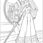 דף צביעה מרידה מתאמנת בחרב