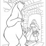 דף צביעה הדוב פוגש במכשפה