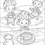 דף צביעה שלושת אחיה של הנסיכה מרידה