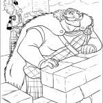דף צביעה המלך פרגוס ולורד מקינטוש
