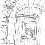דף צביעה מרידה מציצה לחורבות המבצר