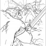 דף צביעה מרידה ואביה מתאמנים בקרב חרבות