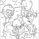 דף צביעה צ'יקן ליטל וחבריו