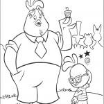 דף צביעה צ'יקן ליטל ואביו באק לאק