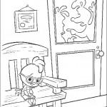 דף צביעה צ'יקן ליטל עצוב