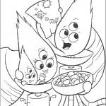דף צביעה משפחת החייזרים