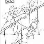 דף צביעה עוזרים לבאק-קלאק לעלות במדרגות